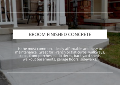 BROOM FINISHED CONCRETE