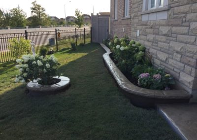 stamped flower beds