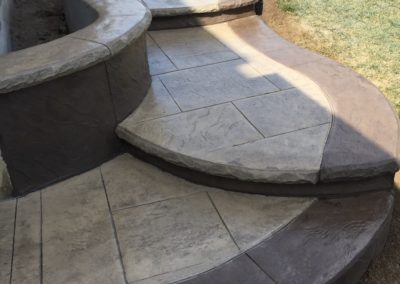 stamped steps and walkway 2018